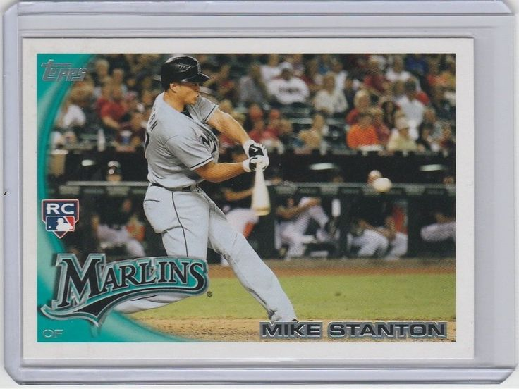 MIKE STANTON 2010 Topps #US-50 ROOKIE   MINT FROM PACK