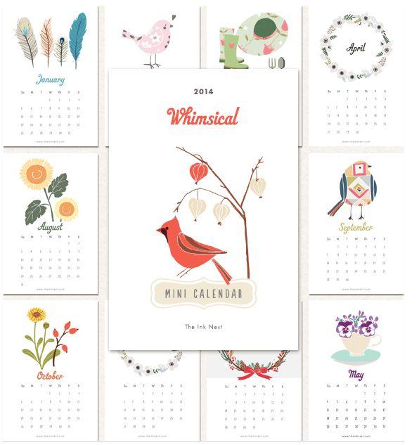 2014 Free Printable Calendars