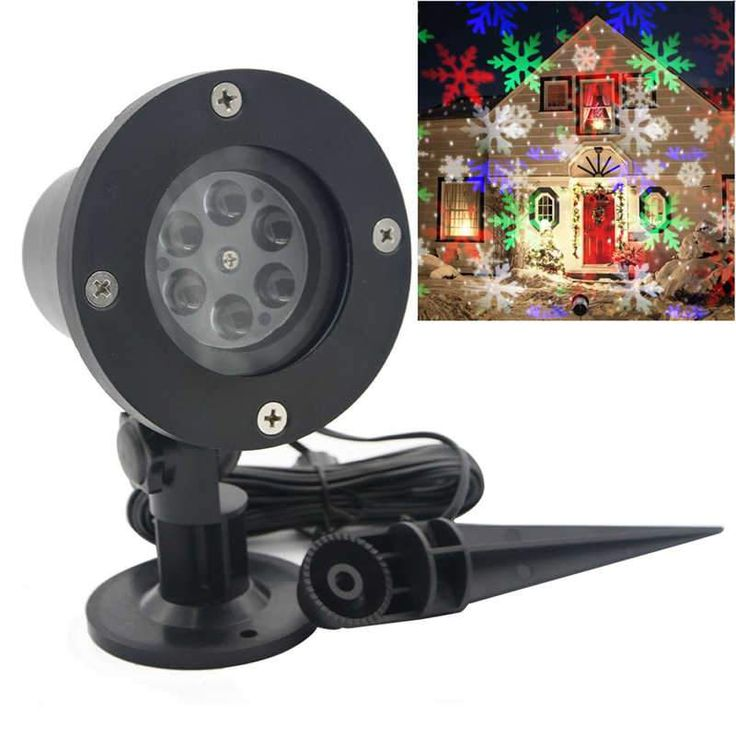 Waterproof LED Stage lights Snowflake Moving Sparkling Landscape Christmas Laser Projector Star Light Lawn Lamps Holiday Decor