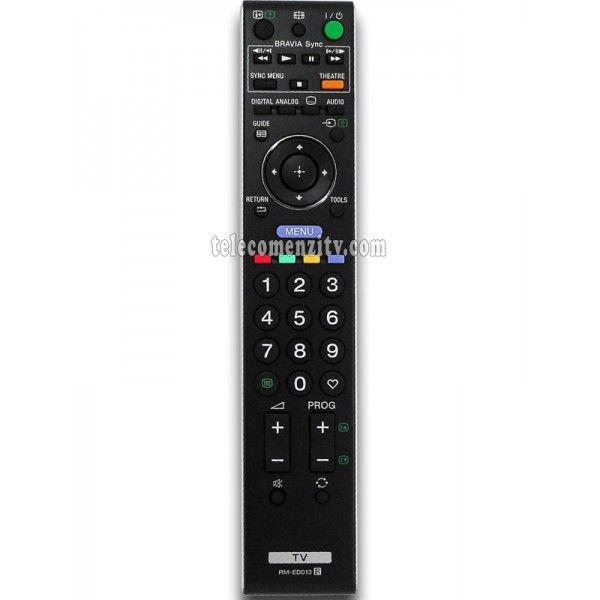 RM-ED013este o telecomanda cu aspect original de cea mai buna calitate folosita pentru televizoarele LED/LCD si plasma marca Sony. Nu are nevoie de coduri pentru a functiona, telecomanda RM-ED013 are nevoie doar de baterii pe care le puteti comanda impreuna cu telecomanda. Va recomandam sa folositi pentru telecomandaRM-ED013baterii alcaline.Tel