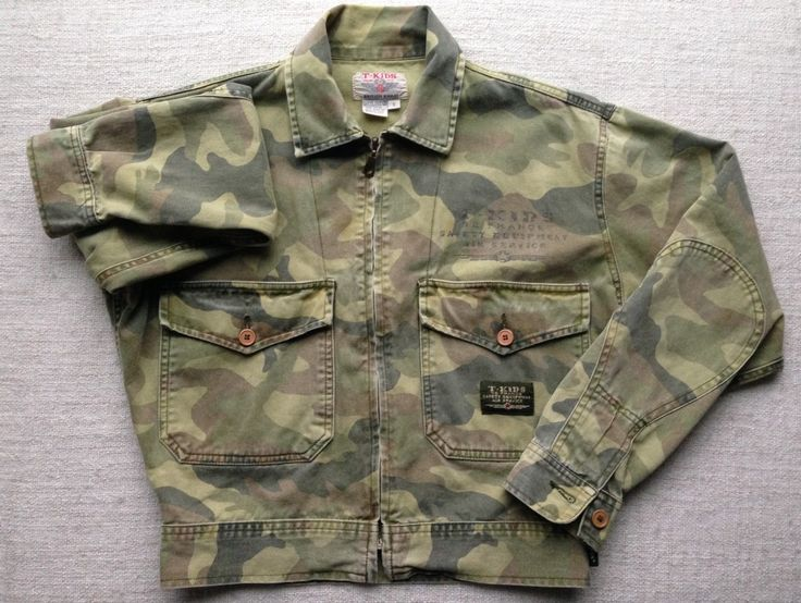 T-kids london british khaki camouflage snap button up military jacket by ENGARLAND on Etsy
