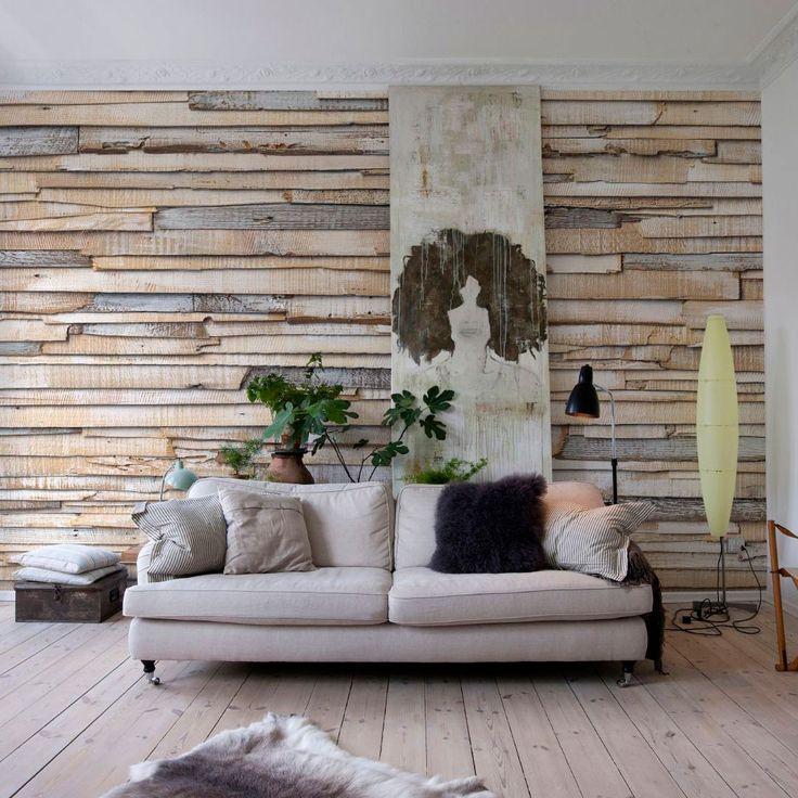 Fotobehang Whitewashed wood in de stijl van #sloophoutbehang van @Komar Products KG