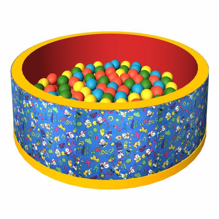 """Сухой бассейн с шариками """"Веселая полянка"""""""