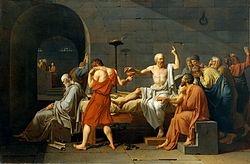 Jacques-Louis David, La mort de Socrate (1787), conservé au Metropolitan Museum de New York