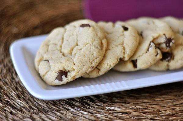 Cream Cheese Choc Chip Cookies -- perfect when it's snowing and you don't have eggs in the house!  Chewy and delish.