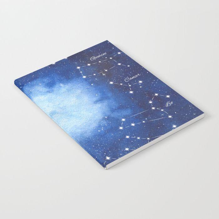 Cosmic Horoscope Notebook #space #zodiac #signs #horoscope #universe #galaxy #nebula #stars #constellations #watercolor #painting #night #buy #buyonline #shopping #giftidea #present #cosmic #cosmos #society6 #notebooks #stationery