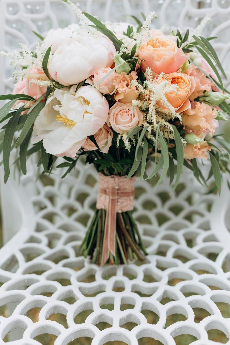 Ramo de novia Albaricoque / Melocotón: D #Blush #Boda #rose #Peach #Pastel
