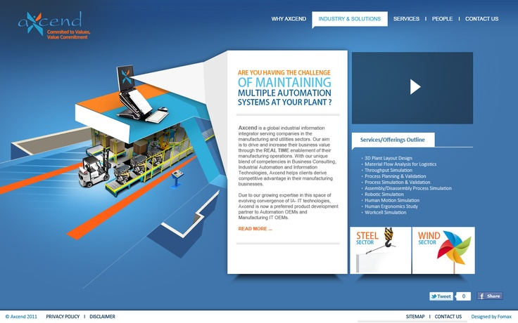 Design of the website for the client in USA