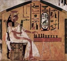 "Senet (or Senat) is a board game from predynastic and ancient Egypt. The oldest hieroglyph representing a Senet game dates to around 3100 BC. The full name of the game in Egyptian was zn.t n.t ḥˁb meaning the ""game of passing""."