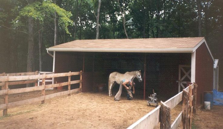 Pole barn kit stall building frame 544 portable barn for 2 stall horse barn kits