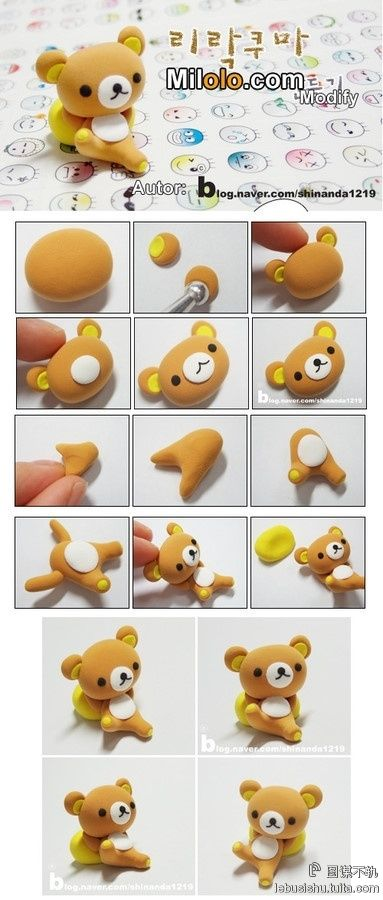 Polymer Clay Rilakuma Bear San-x - I'm so going to make this some day!