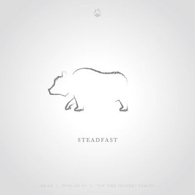 Steadfast - The Bear Art Print by Think North