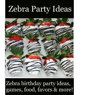 Zebra Party Ideas - Zebra Birthday Party Ideas /  Fun ideas for a Zebra themed birthday party.  Ideas for games, activities, food, favors, decorations, invitations and more! Over 200 fun party themes at http://www.birthdaypartyideas4kids.com