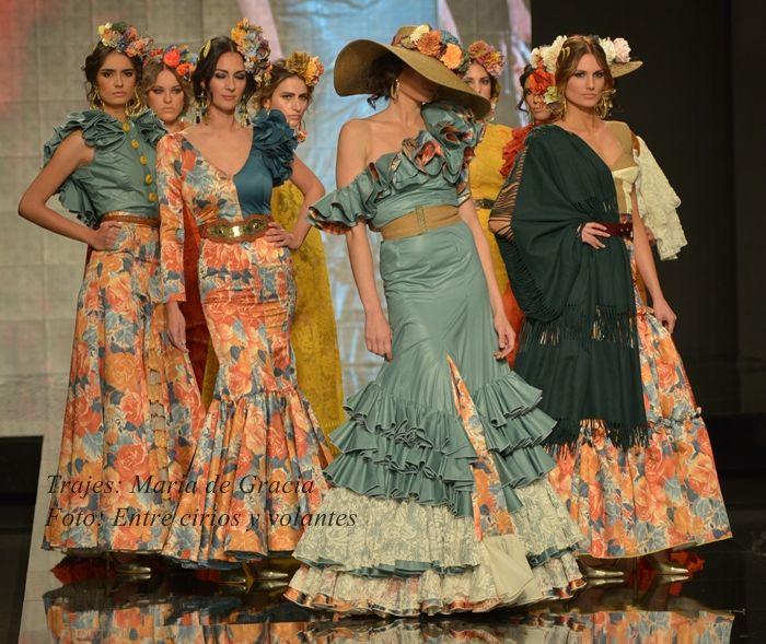 Maria de Gracia trajes de flamenca para el rocio 2015  50b68e1f525
