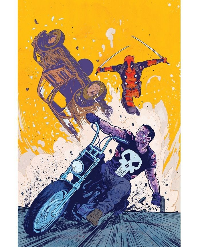 """misterwalsh: """"Deadpool vs. Punisher #1 Michael Walsh Variant. #Deadpool #Punisher #MarvelComics — view on Instagram http://ift.tt/2pym6e1 """""""