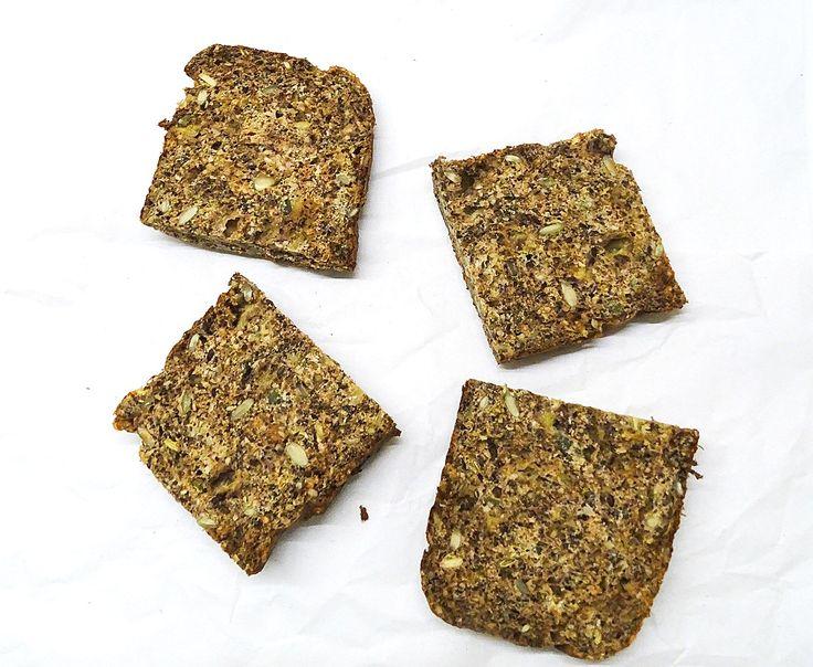 PANE LOW CARB AI SEMI  Per una pagnotta:    40 gr di semi di canapa myprotein  20 gr di semi di lino myprotein  20 gr di semi di girasole  20 gr di mandorle tritate  50 gr di farina di ceci  1 banana matura ( pesata 95 gr)  1/2 cucchiaino di bicarbonato  40 gr di albume(uovo lino o chia)  27 gr di olio di cocco  Cannella, noce moscata e vaniglia  1 pizzico di sale rosa dell' Himalaya