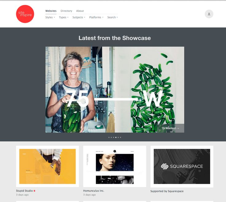 siteInspire is a showcase of the finest web and interactive design.