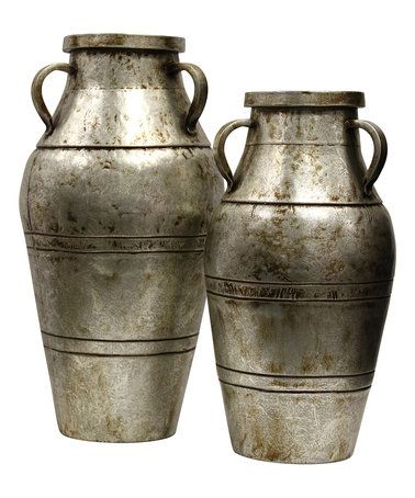 Another great find on #zulily! Silver Industrial Vase - Set of Two #zulilyfinds
