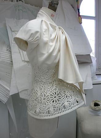 Inside the Fashion Atelier - draping; haute couture dressmaking; fashion studio // Christian Dior