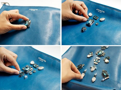 diy embellished coach duffle bag project5