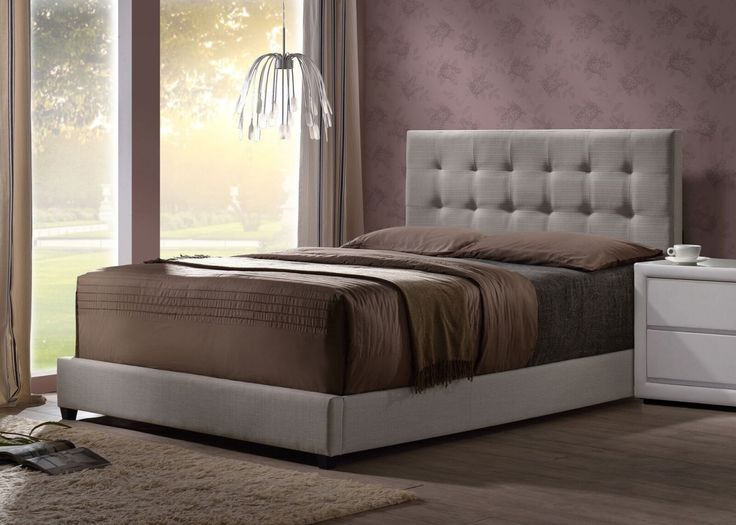 Hillsdale Dugan Upholstered King Size Bed in Light Gray Linen Fabric - 17 Best Images About Better In The Bedroom From Home And Patio
