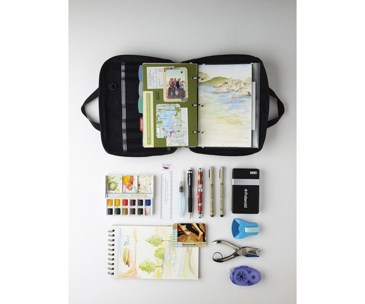 Field Journal Notebook - Tom Bihn Knitting Bags and Accessories (Expensive but we could make something similar maybe)