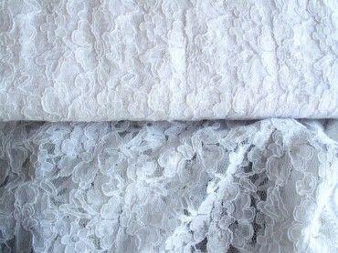 Krajka elastická nylon kvety/biela