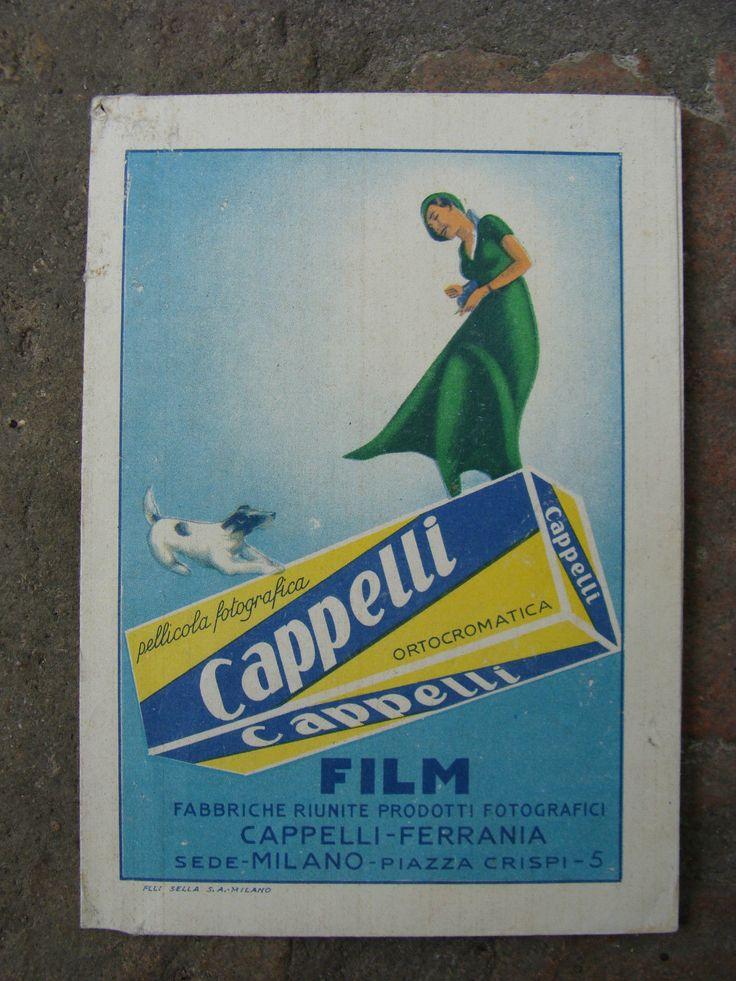 Early Ferrania-Cappelli portanegativi (envelope for film negatives)