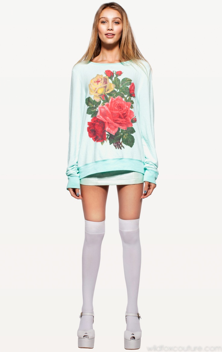 BARRYMORE BAGGY BEACH JUMPER Wildfox Couture in MINT CHIP