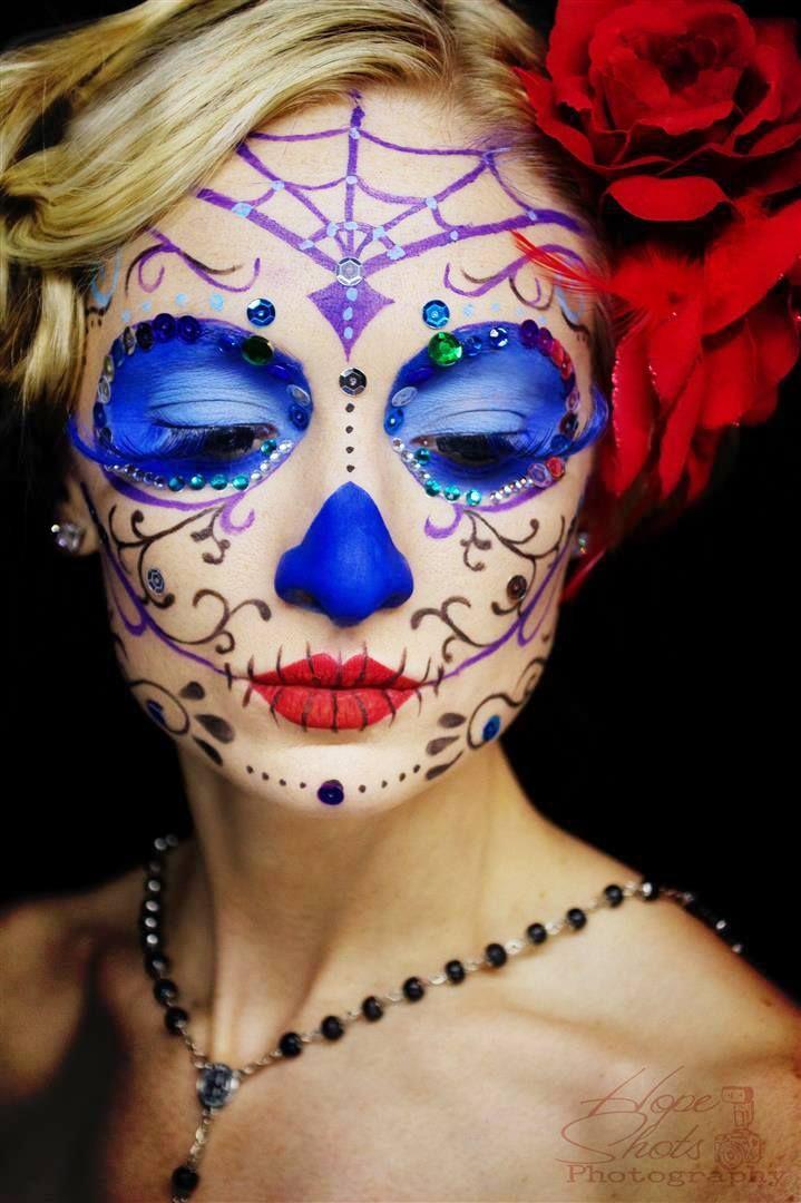 Hope Shots Photography Artist Unique Irish Model Krystal K. Sugar Skull Face painting