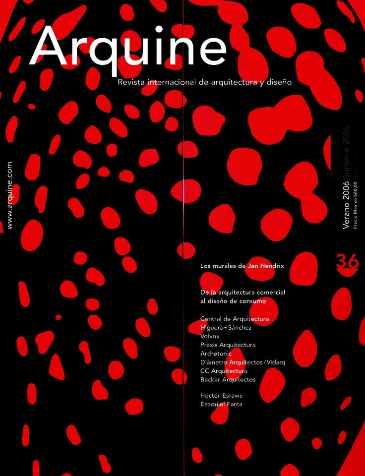 Arquine 36 - en 15 años esta es mi portada favorita...