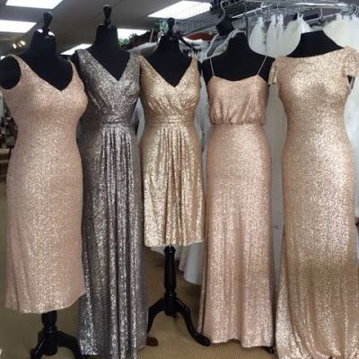 Sequince and shimmery bridesmaid dresses- Charlotte Bridal Boutique- Live Love Breathe Weddings