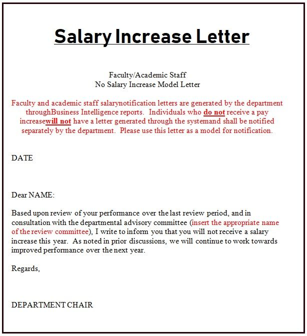 Salary Increase Letter Template Salary Increase Letter