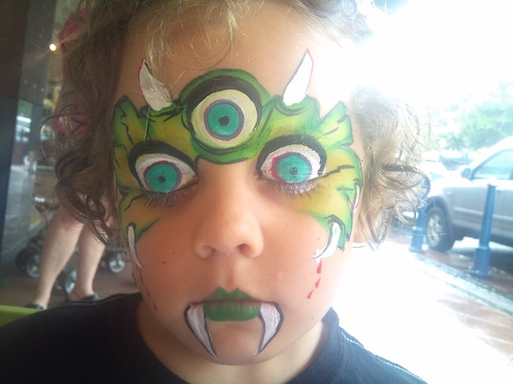 Monster face painting as an activity...only not so creepy!!!  yikes!