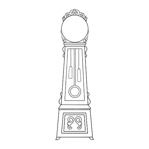 Mortorp decorative stickers ikea you can create a personal grandfather clock by framing an - Stickers bambini ikea ...