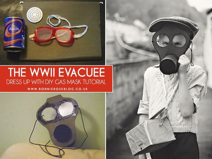 My Expat Life: The WWII Evacuee | DIY Gas Mask | A Compass Rose