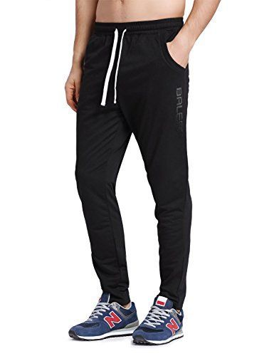 Baleaf Men's Tapered Athletic Running Pants Black Size XS