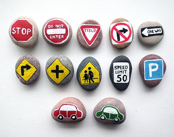 Road Signs with Magnets Traffic Symbols Play for by HappyEmotions
