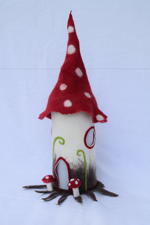 Table lamp Fairy lamp bedside lamp wet felted von Anjasfelt auf Etsy