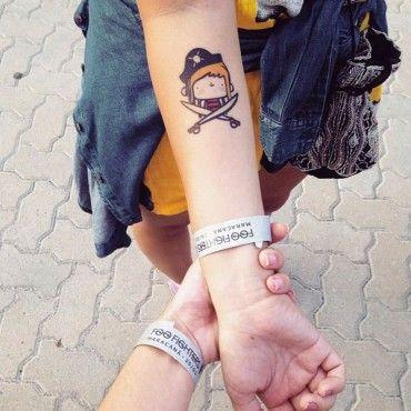 Tatuagem Temporária Piratas II