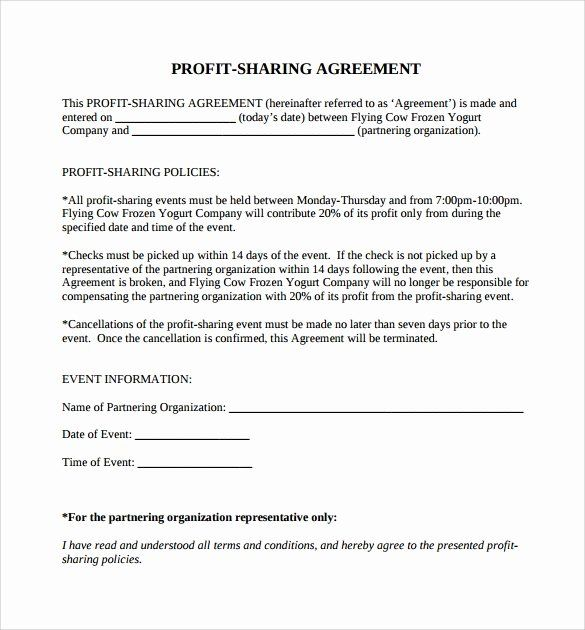 Profit Sharing Plan Template In 2020 Ela Lesson Plan Template