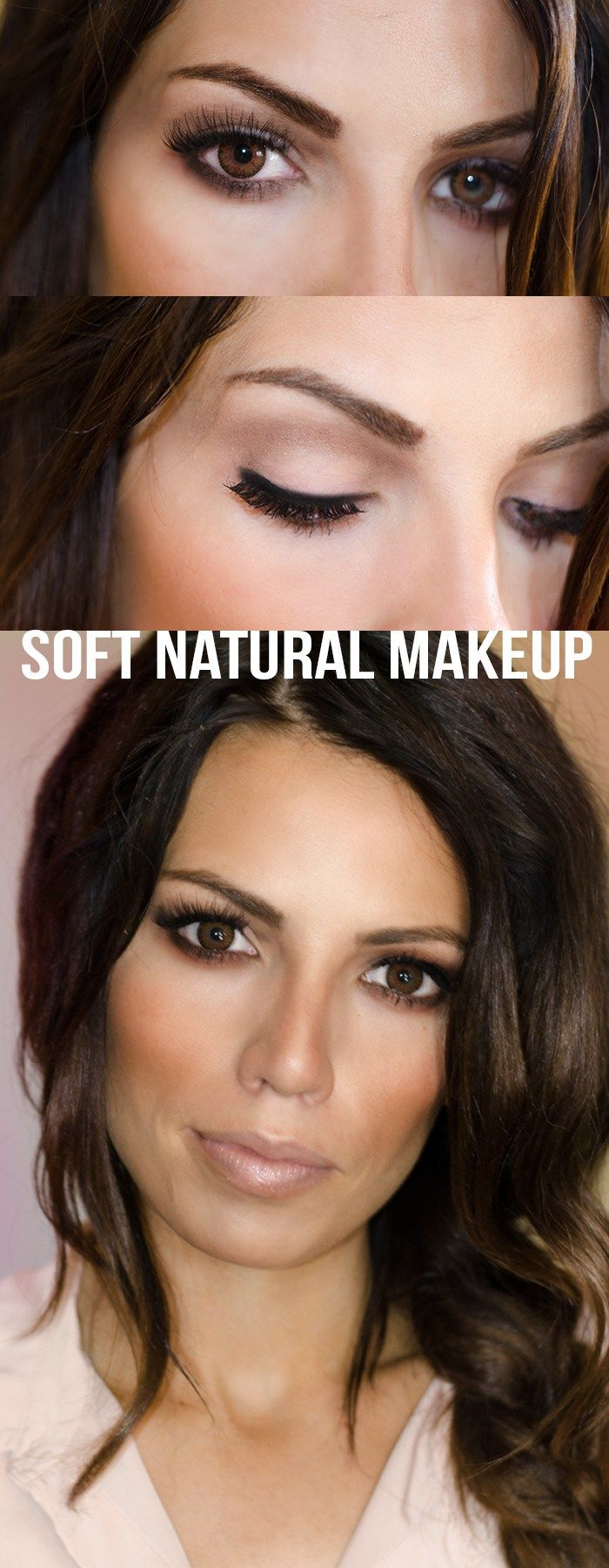 Easy tutorial for a soft beautiful evening makeup look.