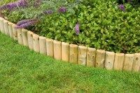 Grange Log Roll Border. #garden #border #edging