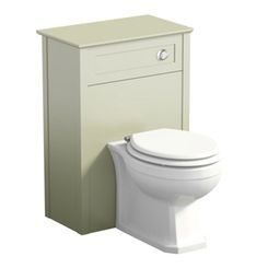 Camberley sage back to wall toilet unit offer pack