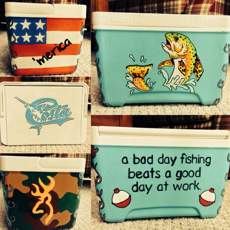 Diy Painted Cooler : Best images about painted coolers on pinterest