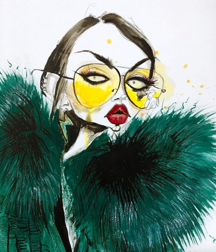 Marc Jacobs Spring '17 campaign Illustration by Jamie Lee Reardin