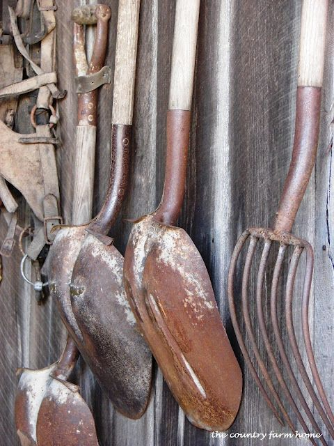 Rusty Tools Decorating Notebook Pinterest Gardens Garden Tools And Tools