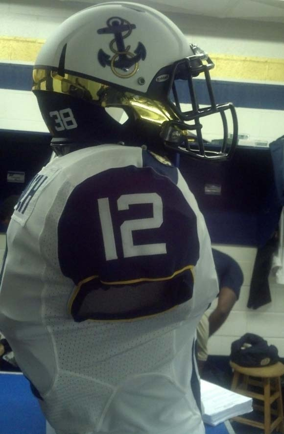 2012 Navy Football Uniforms For Army-Navy Game -- side view