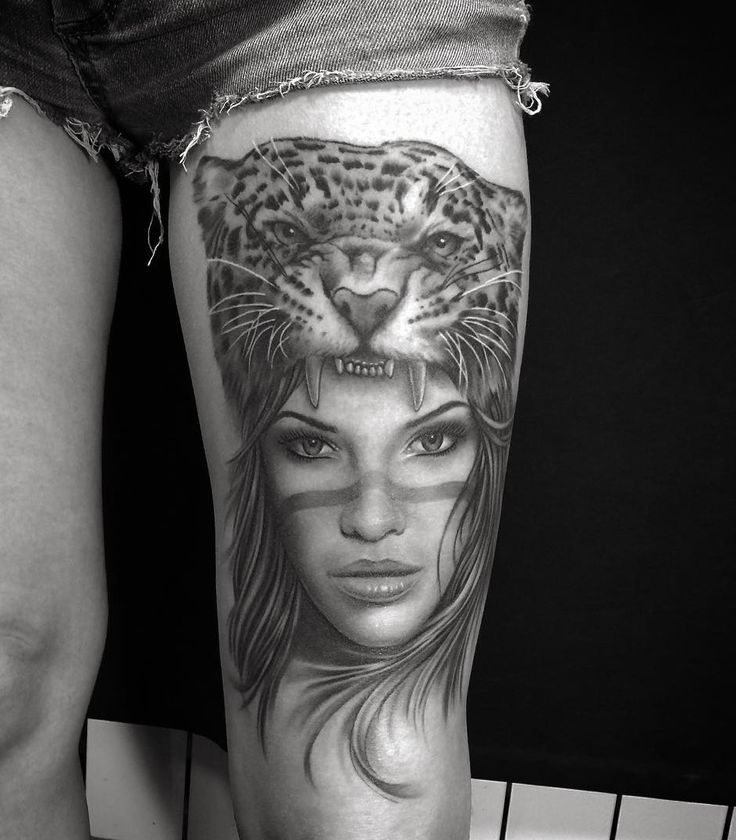 Leopard tattoo healed by @Ervand Akopov at MOLOTOV TATTOO in Kaliningrad,Russia