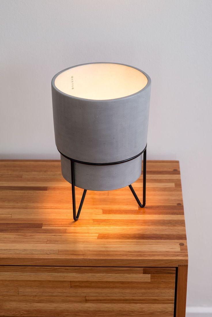 Patio table lamp on Behance #ConcreteLamp #LampWohnzimmer